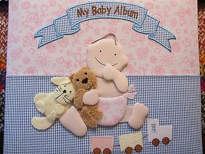 Beautiful Material Covered 'My Baby Keepsake Album' *New*