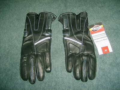 TORQUE: Size: L. Genuine Quality Leather BLACK, Motorcycle Protective, Gloves
