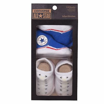 Designer CONVERSE Baby Bootie 2 Pair Sock Pack - Perfect Gift 0 to 6 months