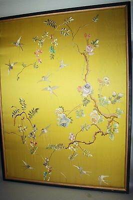 19th/20th C. Chinese Embroidery Birds
