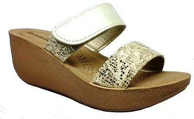 INBLU pantofole ciabatte donna benessere ART ZF29 ZEPPA platino slippers