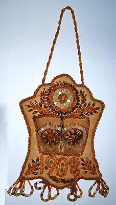 Iroquois Whimsy Beaded Wall Match Holder Native American 1908 Fantastic
