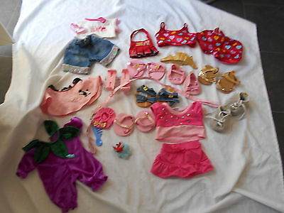 Large bundle of Build a Bear clothes and shoes