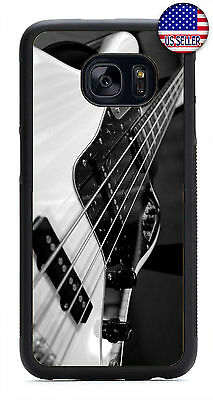 For Samsung Galaxy S10e S10+ S9 + S8 Bass Guitar Strings Rock Music Case Cover