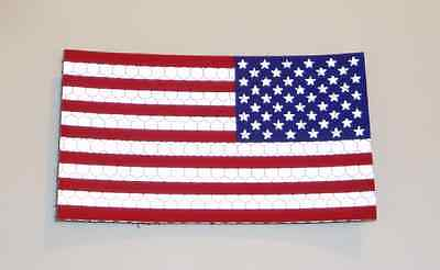 """REV USA RED AND BLUE FLAG PATCH solasX 2ND 3.5""""X2"""" WITH VELCRO® BRAND FASTENER"""