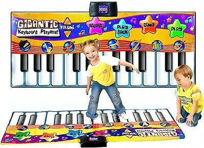 Childrens Giant Electronic Keyboard Piano Musical Playmat Toy Instrument. Best P