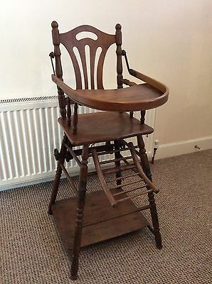 Antique high low chair