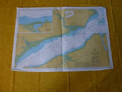 The Solent Western Part Nautical Sea Ground Map - 2040