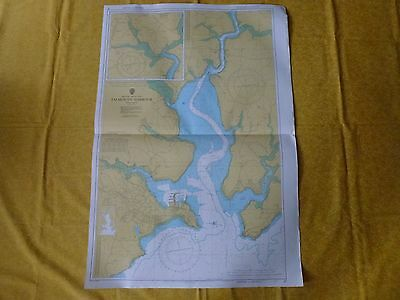 Falmouth Harbour Nautical Sea Ground Map - 32