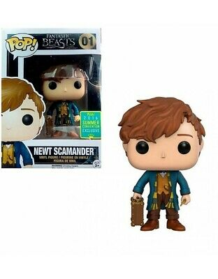 Pop Funko Fantastic Beasts Newt Scamander Summer Convention Exclusive