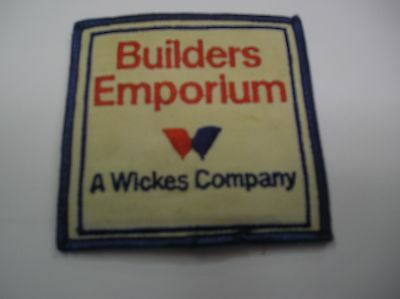 Builders Emporium A Wicks Co Embroidered Sew On Patch  White/blue/red Color