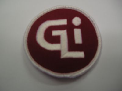 Gli  Embroidered Sew On Patch  White/red Color