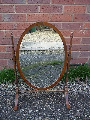 19th Century Antique Oval dressing Table Mirror