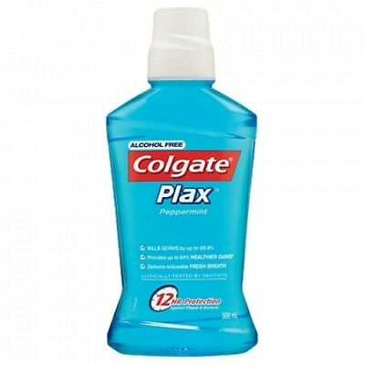 Colgate Plax Mouthwash Peppermint 500ml. Free Delivery