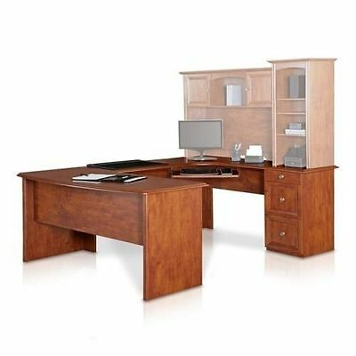 NEW U Shaped Office Executive Desk Maple L shaped