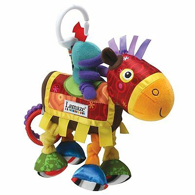 NEW Lamaze Character Toy Sir Prance A Lot Newborn To 24 Months Clacking Rings