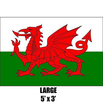 Giant Wales Welsh Dragon Flag 5Ft X 3Ft 150Cm X 90Cm