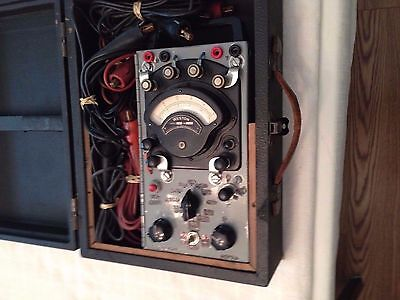 Vintage Weston Electric Model 280 Volt-Ammeter With Cables & Case