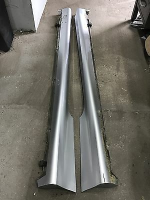 Breaking Vauxhall Corsa E pair side skirts Silver 2016 3 Dr
