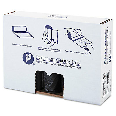 Low-Density Can Liner, 38 X 58, 60gal, 1.4mil, Black, 20/roll, 5 Rolls/carton