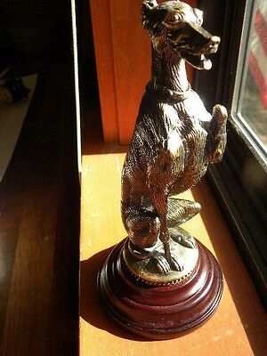 Greyhound  Dog Bronze Sculpture Statue Figurine Bombay Company