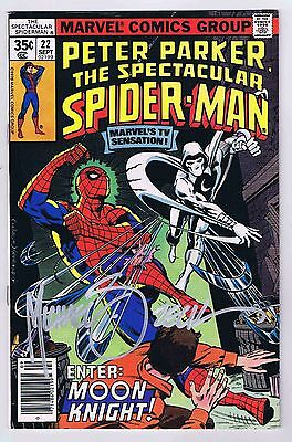 Spectacular Spider-Man #22 FN/VF Signed w/COA By Mike Zeck 1978 Marvel CGC