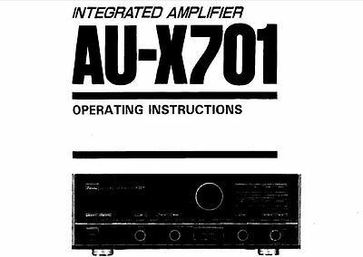 Sansui Au-X701 Integrated Stereo Amp Operating Instructions Printed  In English