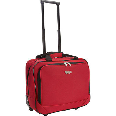 "Travelers Club Luggage 17"" Single-Section Rolling Wheeled Business Case NEW"