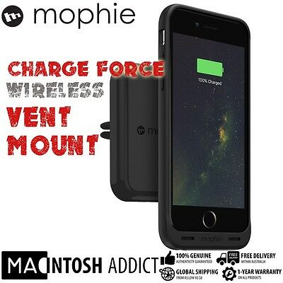 Mophie Charge Force Wireless Charging Magnetic Car Air Vent Mount Dock
