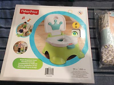 Fisher Price Royal Step stool Potty Toilet Training New In Box
