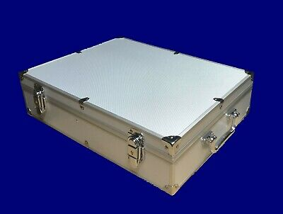 Aluminum Storage & Display Box Case Holds 100 PCGS NGC ANACS Coin Holders Slabs