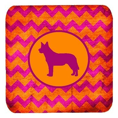 Carolines Treasures SDK1110-B-FC Australian Cattle Dog Chevron Pink And Orange