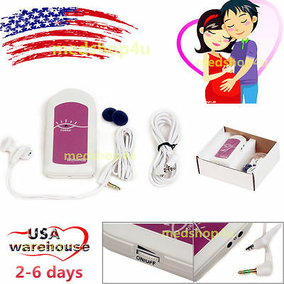 USA!Pocket Ultrasound Fetal doppler Prenatal Baby Heart Sound Monitor,GEL,FDA&CE