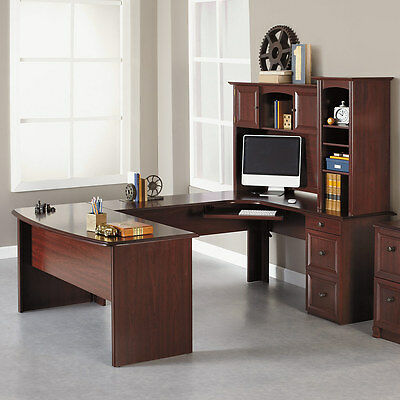 NEW U Shaped Office Executive-Desk WITH Hutch Maple plus L shaped