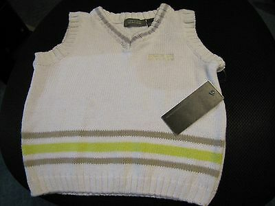 KENNETH COLE REACTION Baby Toddler Boys 18M white Sweater Shirt Cotton New