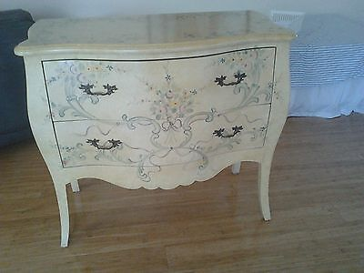 Sideboard Chest of Drawers with painted scrolls and flowers