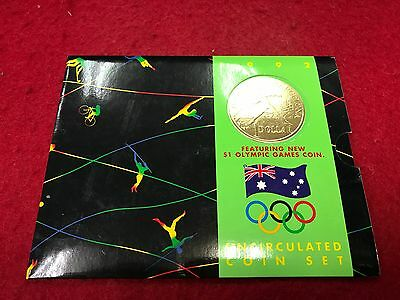 1992 UNC COIN MINT SET featuring $1 Barcelona coin - Royal Australian Mint -