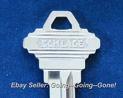 Rare Original Schlage Brand 923C Key Blank Beautiful Nickel Silver Sc1 Oem Nos