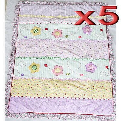 5pc Wholesale Baby Cot Quilt Cotton Embroidery Patchwork Blanket Comforter