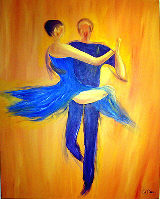 """""""TANGO - THE SEAT"""" Large Original Acrylic Painting By Artist Wendy Dear 24""""x30"""""""