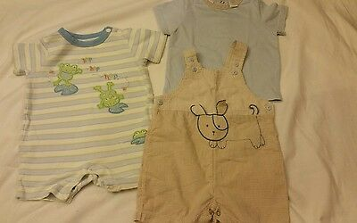 Baby Boy Lot  6-9  Months overall romper Spring Summer Outfit