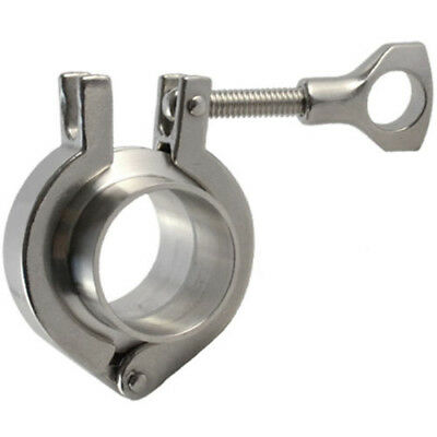 "2"" Tri Clamp Assembly Stainless Steel Sanitary Weld Ferrule Pipe Fitting"