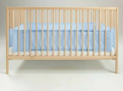 Genuine Airwrap Safety Cot Bumper In Blue.  (3 Sided) Easy To Attach With Velcro