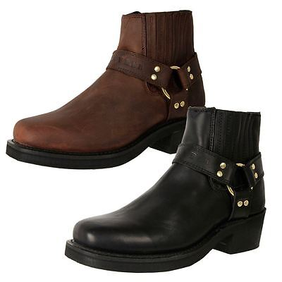 Johnny Reb Men's Leather Classic Heavy Duty Extra Wide Morotcycle Boots Cheap