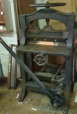 Vintage Paper Guillotine Chandler & Price