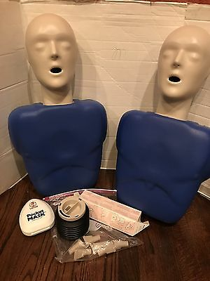 (2) CPR Prompt Training Manikins with some accessories