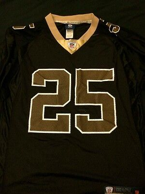 Adult Reebook Rbk Black New Orleans Saints Reggie Bush # 25 Jersey Size Medium