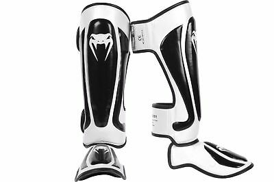 Venum Predator Standup Shinguards Black White Ufc Mma Shin Guards Pads