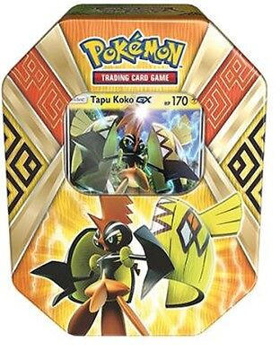 POKEMON -  Tapu Koko-GX Island Guardians Tin, Foil, 4 Booster Packs
