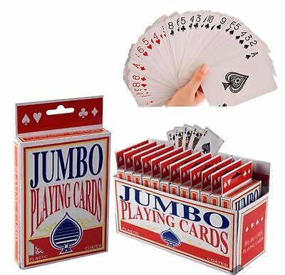 Jumbo Giant Playing Cards Extra Large Cards Playing Cards Pack of 52 Game Deck